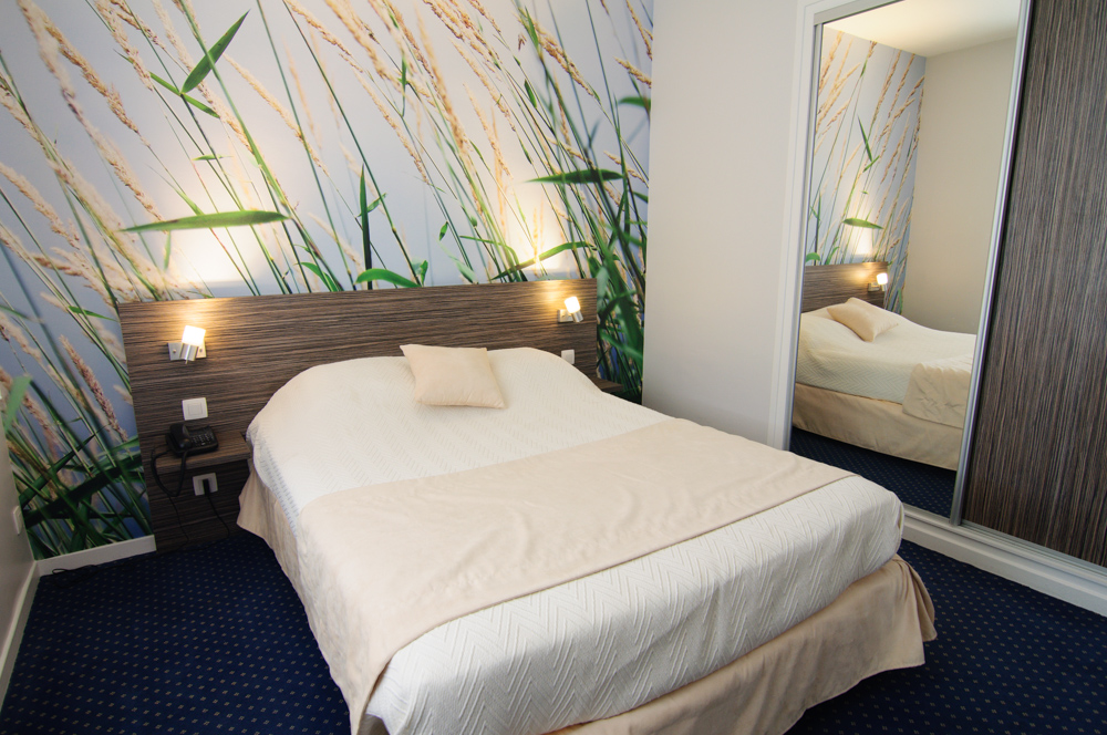 Chambre bl s hotel dauly lyon bron for Hotel dauly bron