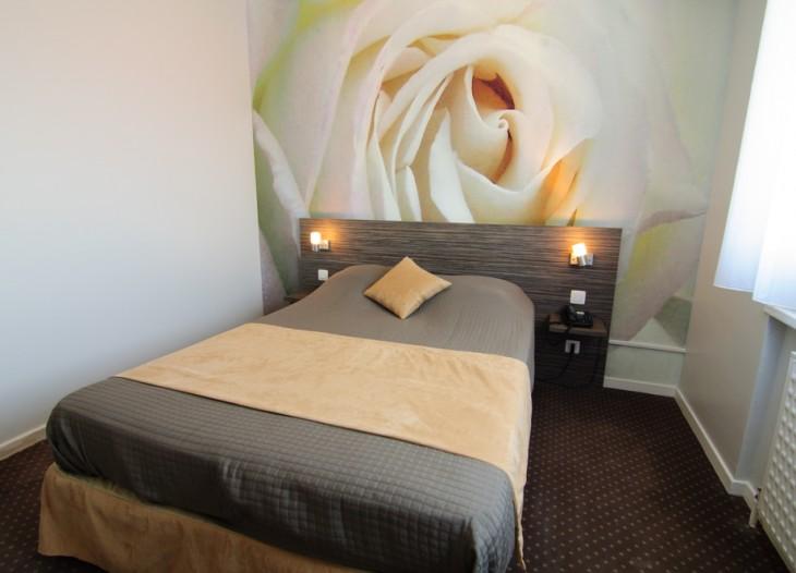 chambre rose blanche
